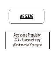 07A-Turbomachinery (Basic Concepts)