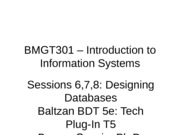 Session 6 BMGT301 - Fall 2013 - Intro to Databases-rev 5