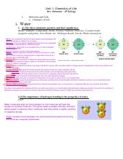 1. Chemistry of Life Notes by Objectives Student (3)