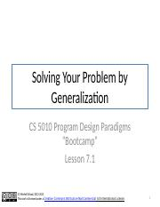 Lesson 7.1 Solving Your Problem by Generalization.pptx