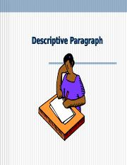 Expository Wrting 2-  Chapter 4 Presentation Descriptive Paragraphs (2).ppt