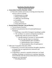Psychiatric Disorders Review.docx