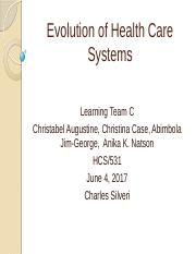 HCS_531_Evolution of Health Care Systems_an