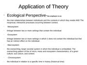 application of theory