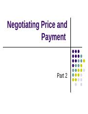 negotiating payment
