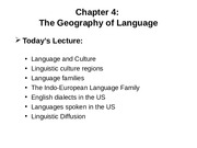 CD Chapter 4 Geography of Language