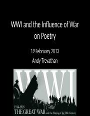 WWI and Poetry.pptx