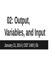 02_ Output, Variables, and Input.pptx