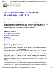 Naval Race between Germany and Great Britain, 1898-1912 _ International Encyclopedia of the First Wo