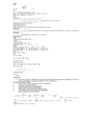 Cheat sheet - Exam 1