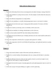 Study Guide Ch 13&14