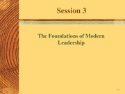 Session 3 - Modern Leadership (1)