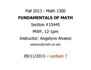 Lecture 7 - Math 1300 - 091113 - FILLED
