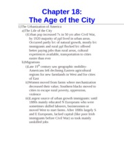 Chapter 18- The Age of the City