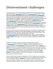 Disinvestment challenges.docx