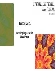 HTML XHTML and XML 3e Tutorial 1.pptx