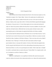 critical engagement paper