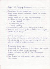 Bus Adm 382 Chapter 17 Managing Communication Lecture Notes