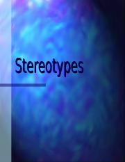 Lecture+9--stereotypes