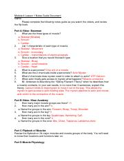 Module 4 Lesson Notes Guide Document