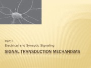 Signal Transduction Mechanisms