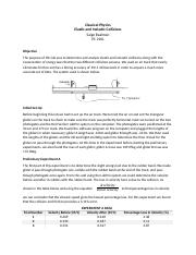 Elastic and Inelastic Collisions Lab Report.docx