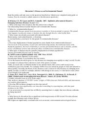 Discussion 3, disease, study guide