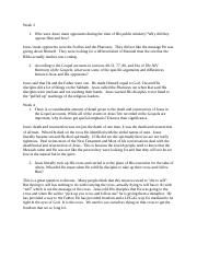 the passion of the christ essay running head the passion of the  1 pages week 3 4 discussion questions