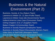 Business  the Natural Environment class lecture Part 2