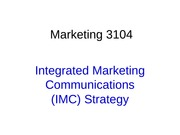 Integrated Marketing Notes