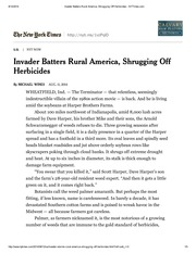 Invader Batters Rural America, Shrugging Off Herbicides - NYTimes