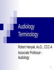 2. Audiology Terminology.ppt