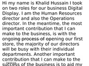 my reflection case study khalid