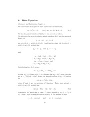 MATH 412 Notes 6.1 Wave Equation