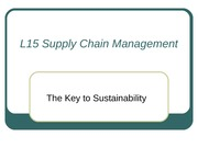 L15 Supply Chain Management0