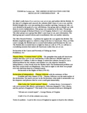 HY 120.terms #8 American Revolution and Articles of Confed