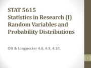 4_Random Variables and Probability Distributions