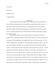 Merchant of Venice final draft