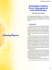 power reduction in rfid