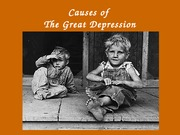Causes of the Great Depression,grade 11