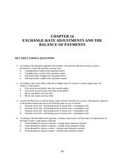 CHAPTER 14 EXCHANGE-RATE ADJUSTMENTS AND THE BALANCE OF PAYMENTS