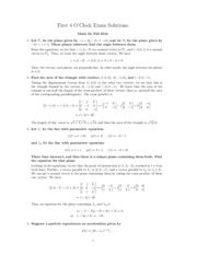 Math 023 First Exam Solution