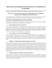 Religion Extremism and Violence.docx
