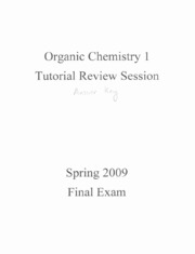 Final Exam Spring 2009 Review Key