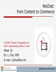 CCCH9017 Week 10 WeChat from content to commerce outline.pdf