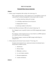 Potential Short Answer Questions (Quiz 1 - Ch. 1-3 and S1)