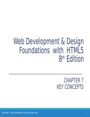 Chapter7 Web Development Design Foundations With Html5 8th Edition Chapter 7 Key Concepts Copyright Terry Felke Morris Http Terrymorris Net Copyright Course Hero