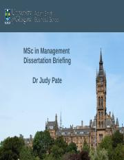 MSc in Mgt Dissertation Briefing March 2016.ppt