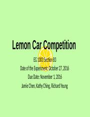 Lab # 8: Lemon Car Competition .pptx