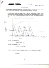 MATH 112 Homework Sets 1-4 with most solutions